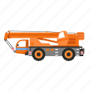 construction, crane, heavy, hook, lift, truck