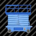 car, construction, equipment, hoist, lift, stand icon