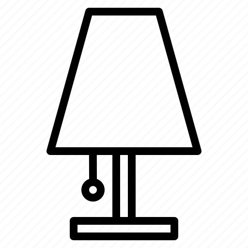 electricity, furniture, households, lamp icon
