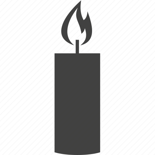 candle, fire, heated, light icon