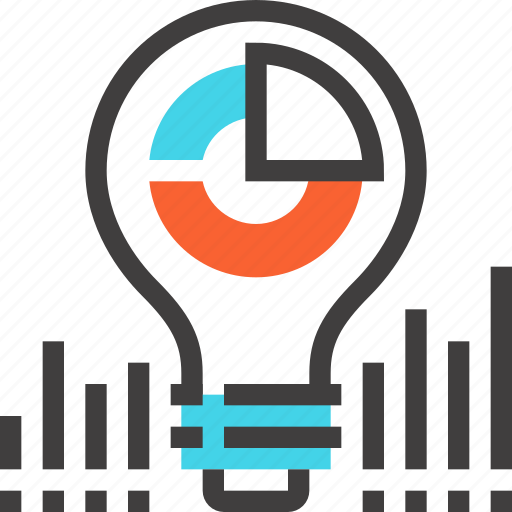 Bulb, business, chart, data, finance, idea, light icon - Download on Iconfinder