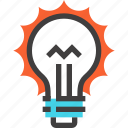 bulb, energy, idea, imagination, inspiration, light, power icon