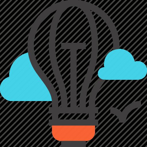 air, balloon, bulb, idea, imagination, inspiration, light icon