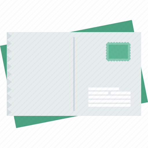 envelope, letter, mail, postcard, postcards, social, stamp icon