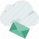 cloud, download, electronics, email, mail, storage, technology icon