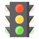 glow, light, lightsource, shine, traffic lights icon