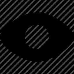 eye, eyeball, views, visible, watch icon