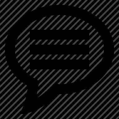 bubble, chat, comment, message, talk icon