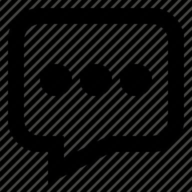 bubble, chat, comment, message, more, talk icon
