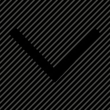 arrow, chevron, down icon