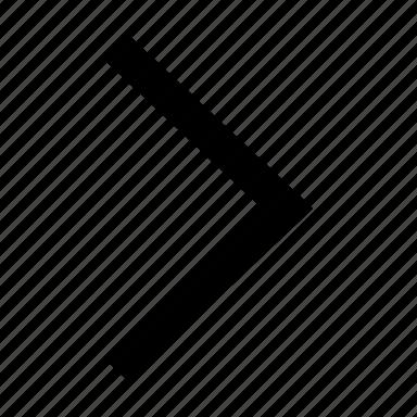 arrow, chevron, direction, forward, move, right icon