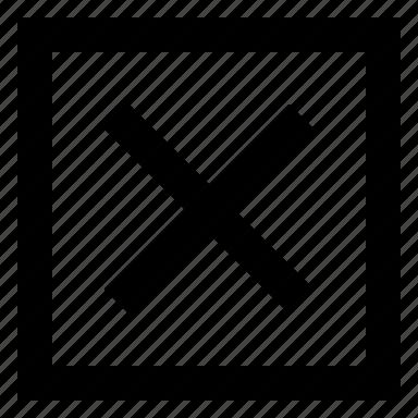 close, delete, square, stop icon