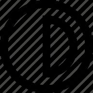 adjust, black, contrast, control, white icon