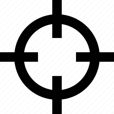 aim, crosshairs, hunting, target icon