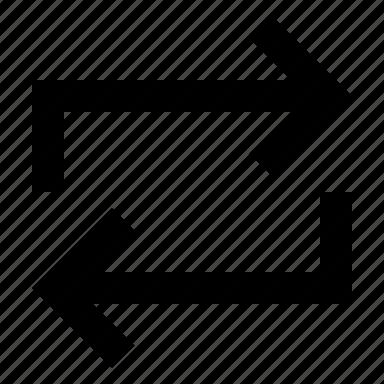 arrows, copy, duplicate, retweet icon
