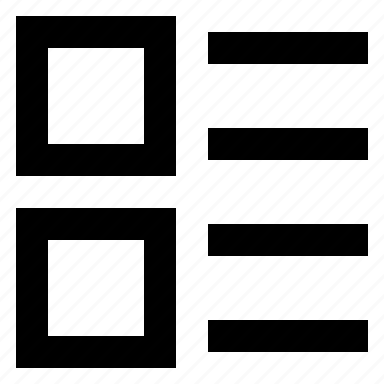 grid, layout, list icon