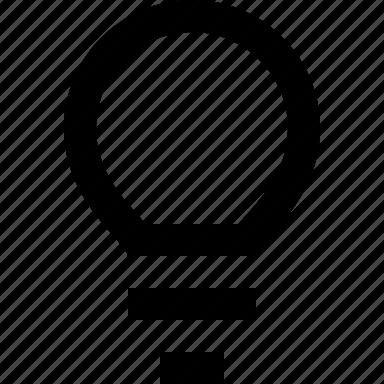 bulb, idea, light, power icon