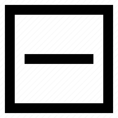 delete, minus, remove, square icon