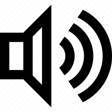 audio, full, volume icon