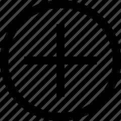 add, circle, new icon