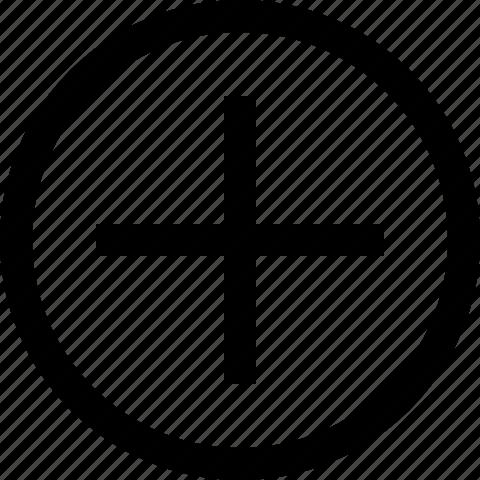 add, addition, circle, increase, new, plus, positive icon