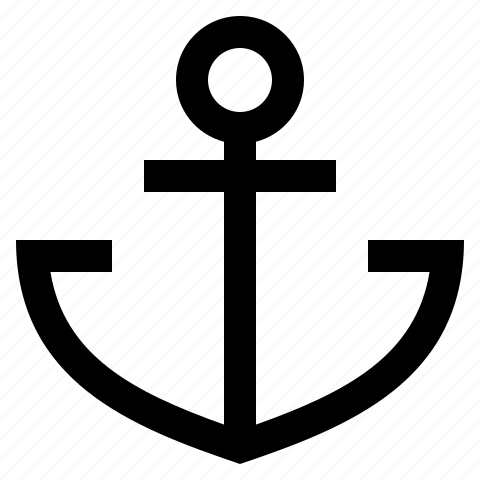 anchor, nautical, navy, sea, ship icon