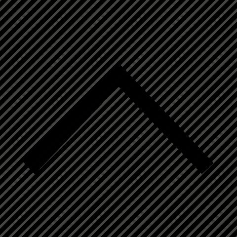 arrow, chevron, up icon