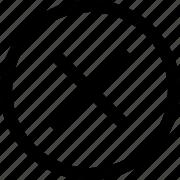 circle, close, delete, stop icon
