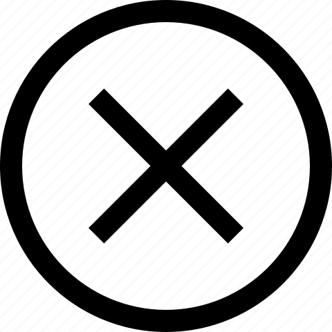 cancel, circle, close, delete, deny, dismiss, exit, remove icon