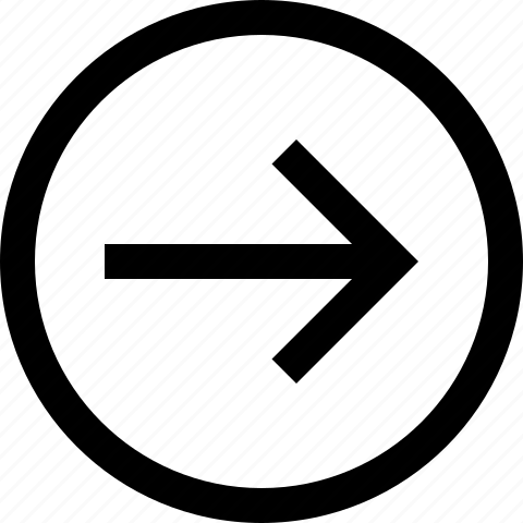 arrow, circle, direction, forward, right icon