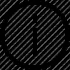 circle, info, information icon