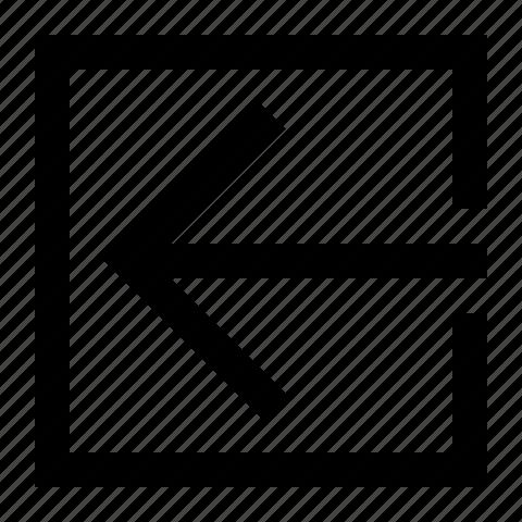 arrow, left, swipe icon