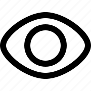 eye, on, view, visibility icon