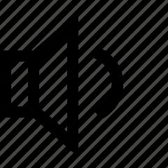 audio, low, volume icon