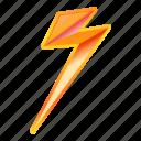 bolt, flash, lightning, night