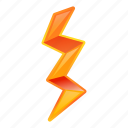 bolt, lightning, orange, retro
