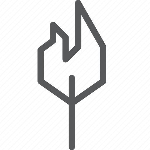camping, fire, flame, light, match, outdoors, stick, warmth icon