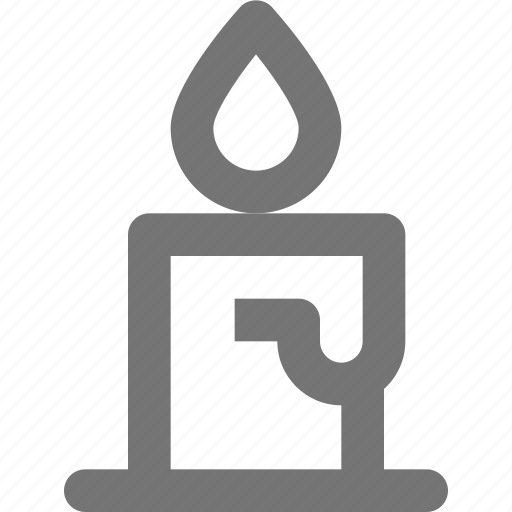 candle, light icon