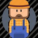 farmer, flat icon, job, lego, people, profession, work icon