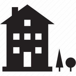 building, house, property, trees icon