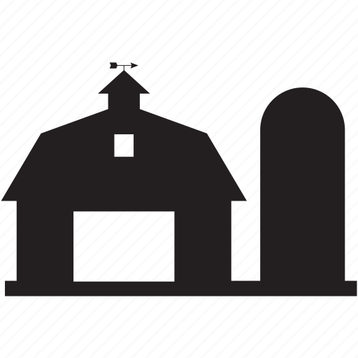 barn, building, farm, home icon