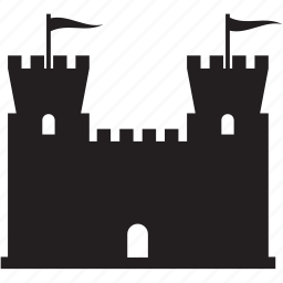 building, castle, fort, medieval icon