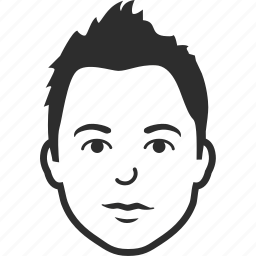 avatar, character, face, head, man, person, profile, user icon