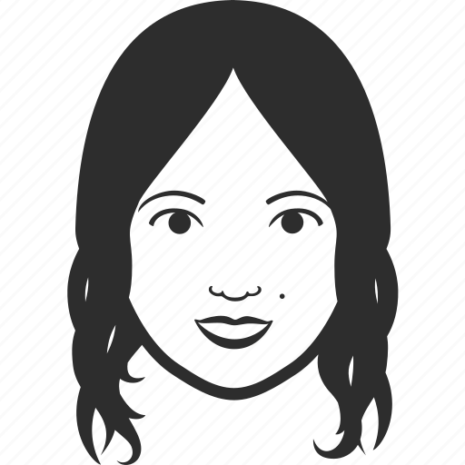 avatar, character, face, head, person, profile, user, woman icon