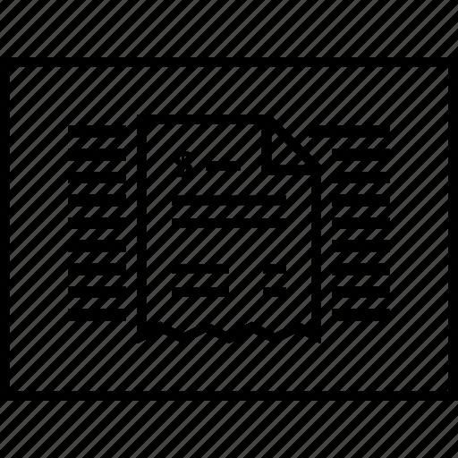 layout, receipt, sitemap, ui, wireframe icon