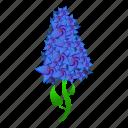 blue, floral, flower, lilac, retro, wedding