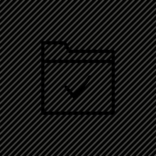 accomplished, achievement, complete, correct, execution, folder, goal icon