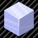 cartoon, cube, ice, isometric, logo, silhouette, water icon