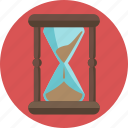 challenge, clock, hourglass, hurry, sand, time icon