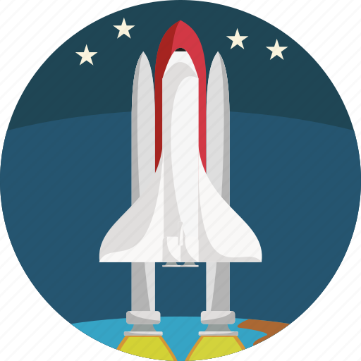 fly, rocket, space, spaceship, stars, startup icon